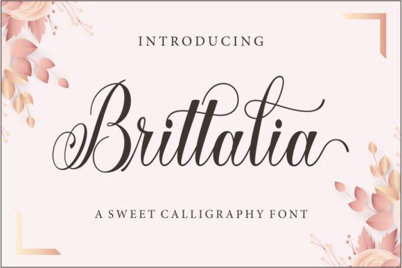 Brittalia花体婚礼连笔logo英文字体下载