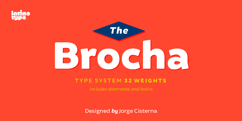 Brocha无衬线现代英文logo字体下载