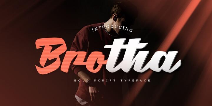 Brotha Script摄影海报手写粗英文字体下载
