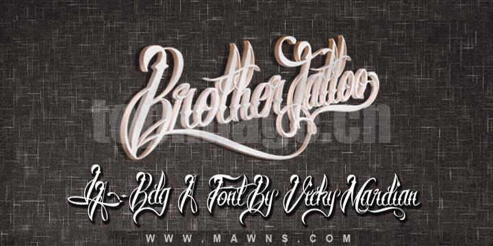 Brother Tattoo 哥特式异形飘逸个性英文字体下载