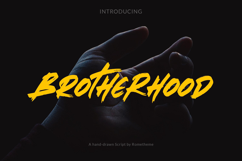 Brotherhood手写书法英文字体下载