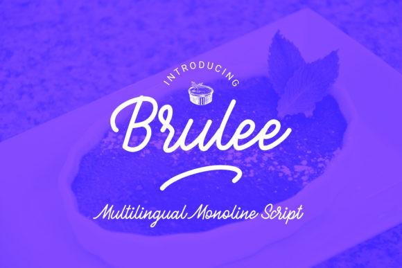 Brulle创意logo手写连笔英文字体下载