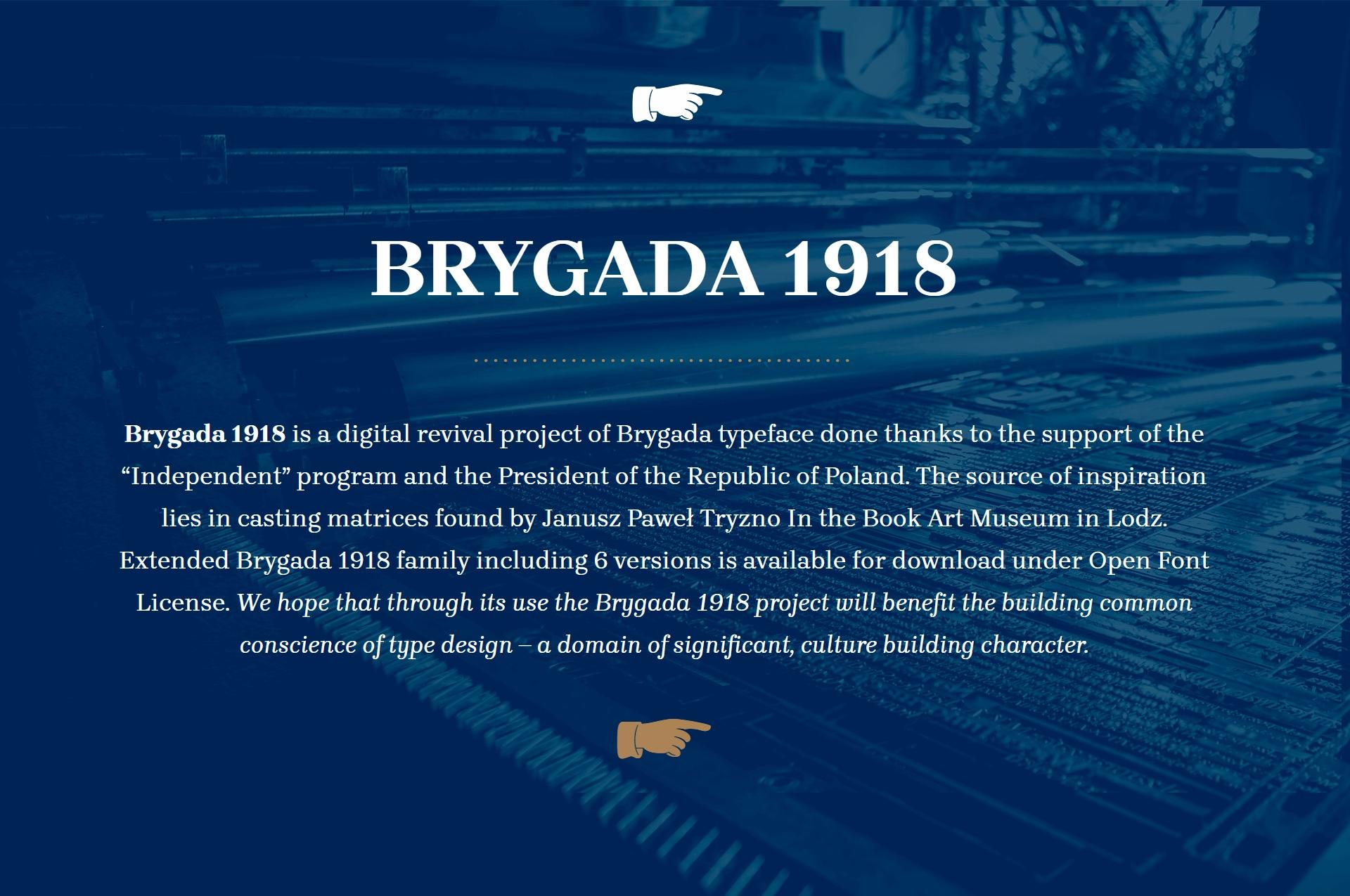 Brygada1918现代衬线logo设计排版英文字体下载