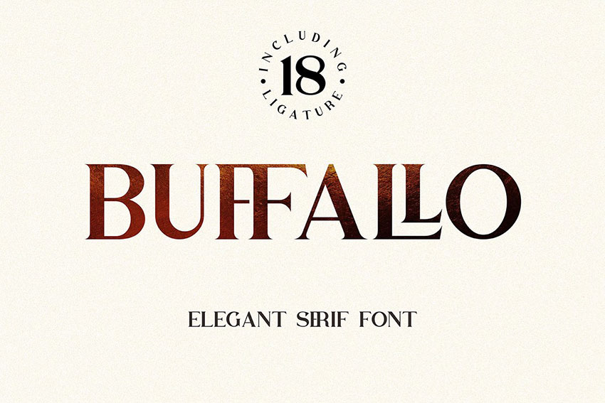 Buffallo衬线复古经典英文字体下载