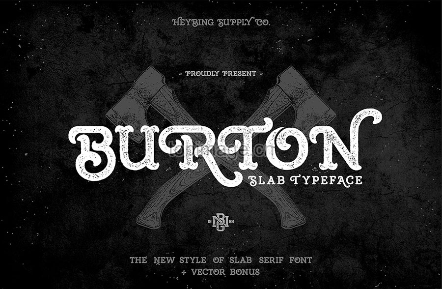 BurtonSlab复古纹身哥特式英文字体下载
