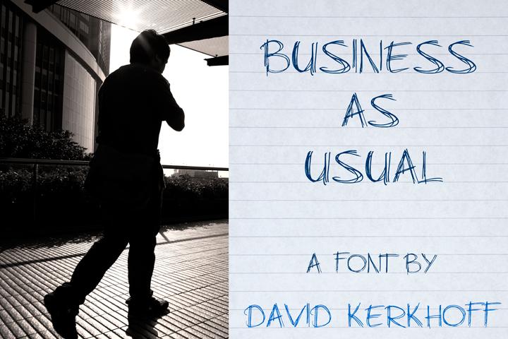 BusinessAsUsual手写英文字体下载