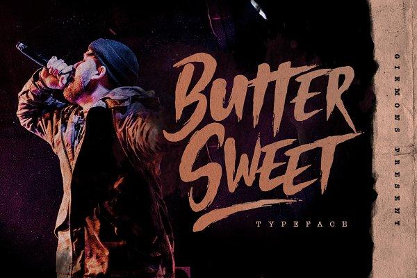 Butter Sweet手写书法大气笔刷英文字体下载