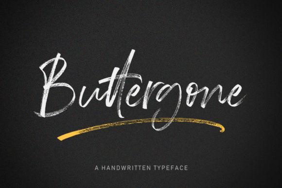 Buttergone书法笔触毛笔英文字体下载