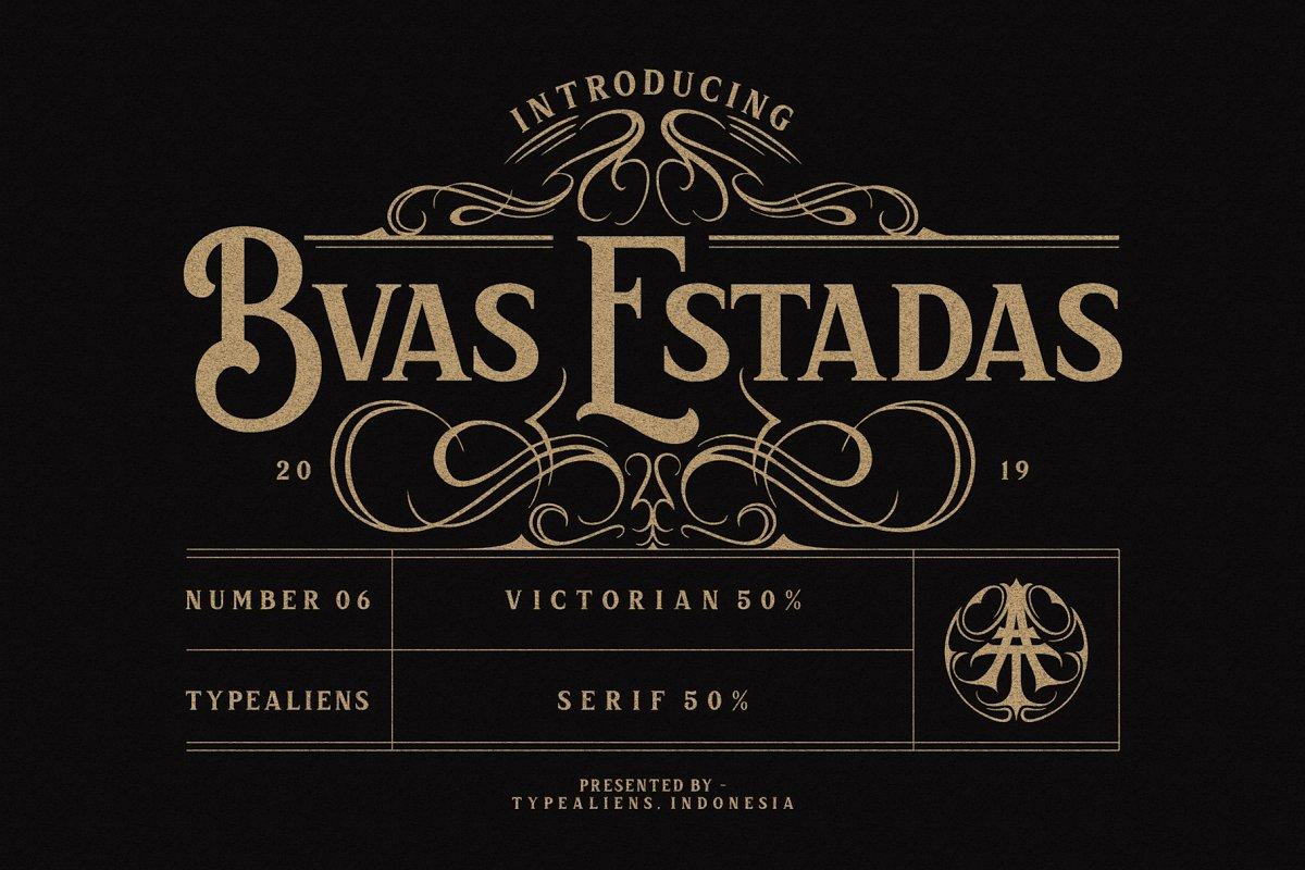 Bvas Estadas衬线复古英文字体下载