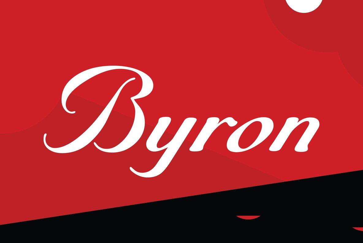 Byronrr老式欧美好看的英文字体下载