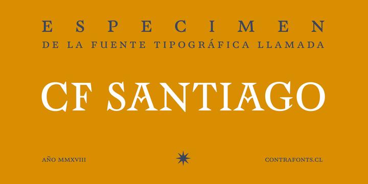 CFSantiago现代个性衬线logo设计英文字体下载