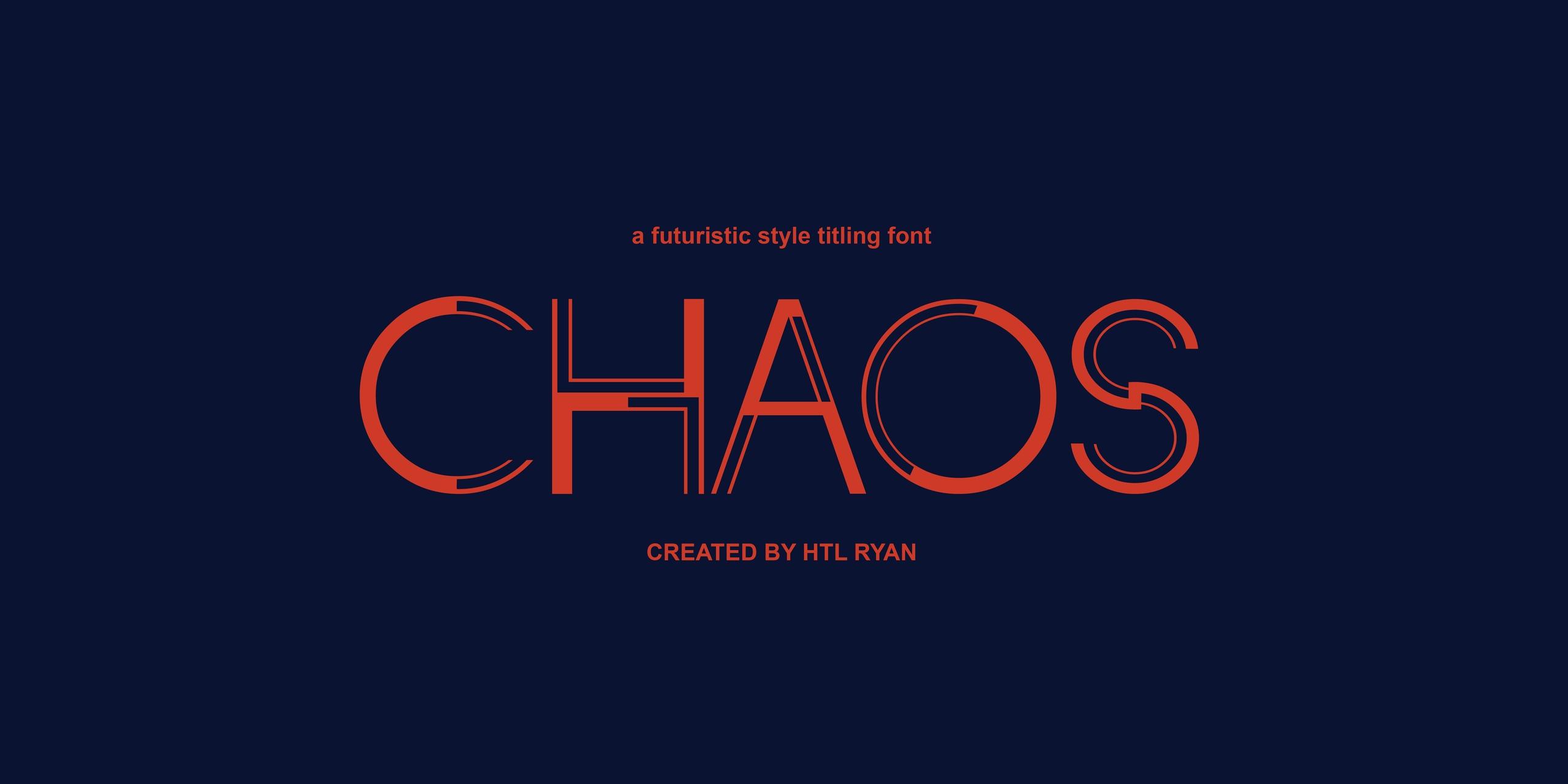 CHAOS个性线条设计logo英文字体下载