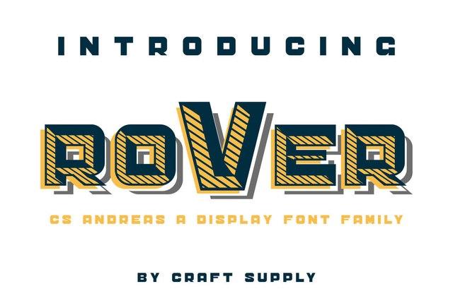 Sandreas个性机械力量排版设计英文字体下载