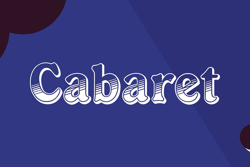 CabaretDOT可爱手写肌理效果英文字体下载