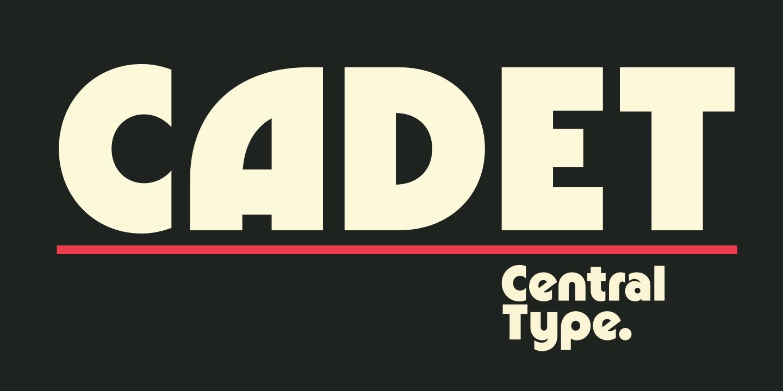 Cadet现代无衬线创意设计logo英文字体下载