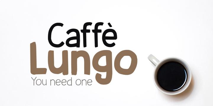 Caffe Lungo手写餐饮海报个英文字体下载