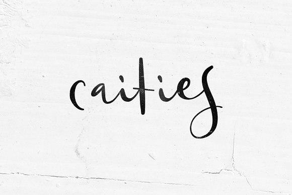 Caities书法印刷手写海报英文字体下载