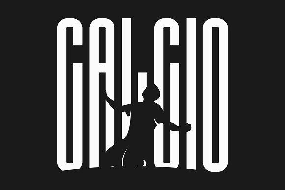 Calcio细长时尚现代英文字体下载