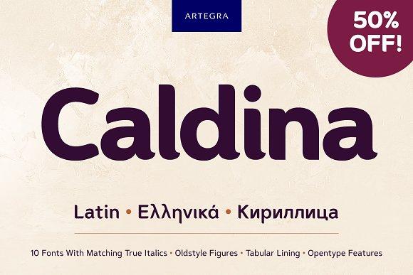 Caldina圆润现代排版设计平面英文字体下载