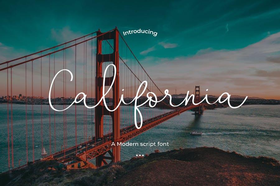 California手写连笔签名网红艺术字体下载