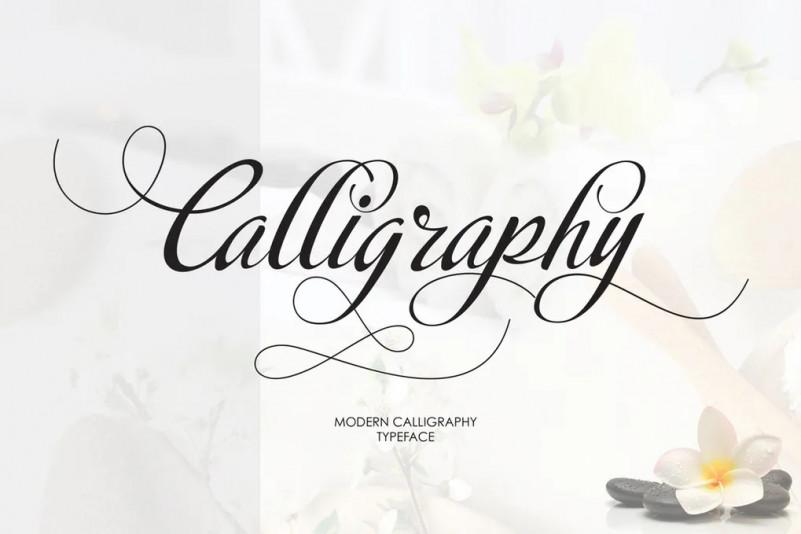 Calligraphy手写连笔婚礼花体英文字体下载