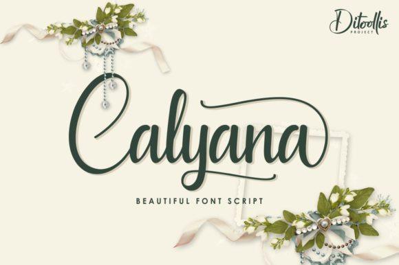 Calyana手写连笔好看的英文字体下载