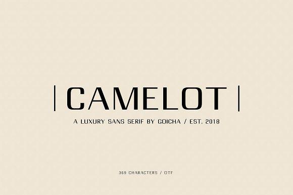 Camelot现代简洁英文字体下载