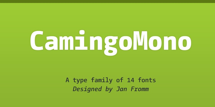CamingoMono无衬线现代简洁英文字体下载