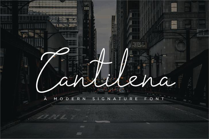 Cantilena优美飘逸手写连笔海报英文字体下载