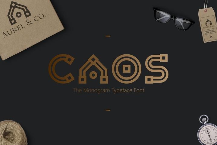 Caos个性设计logo创意英文字体下载