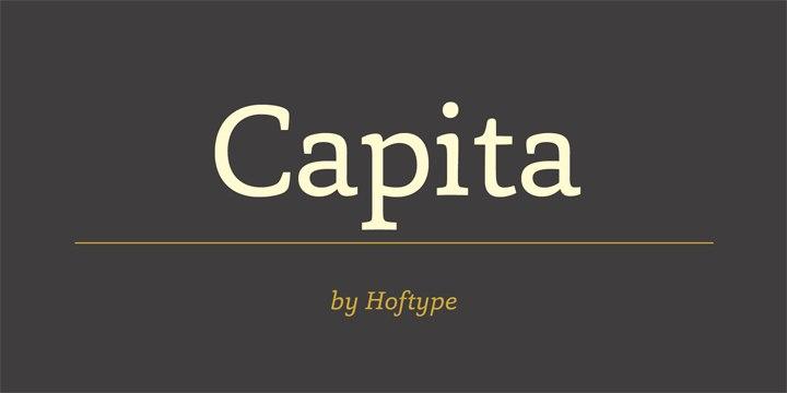 Capita现代时尚简约logo英文系列字体下载