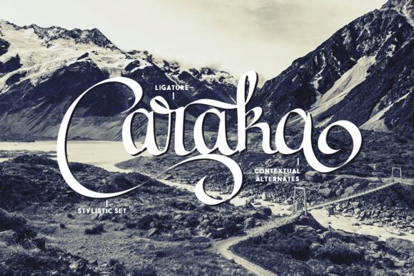 Caraka手写连笔个性英文字体下载