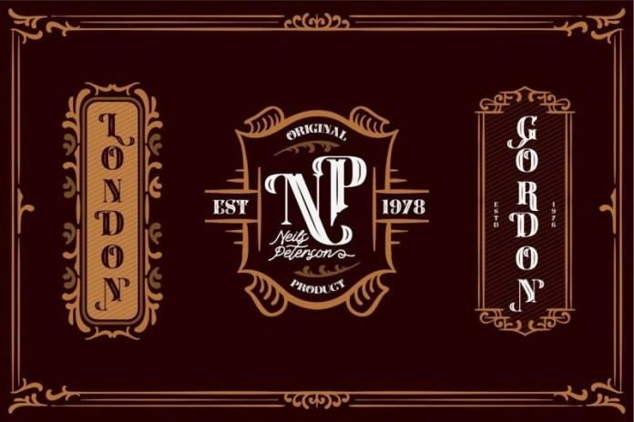 Carlingthon花体哥特式奇卡诺纹身logo设计英文字体下载