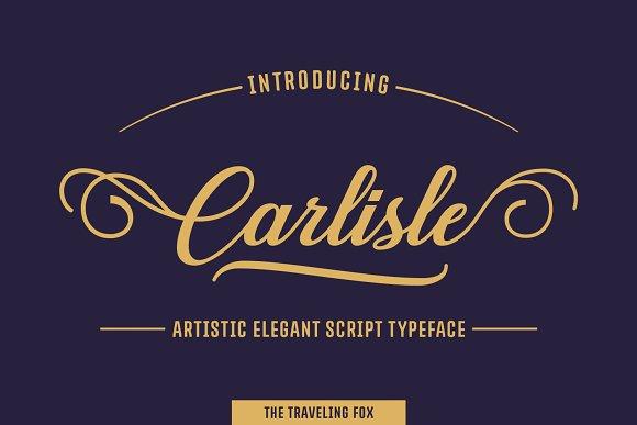Carlisle美式复古徽章手写连笔英文字体下载