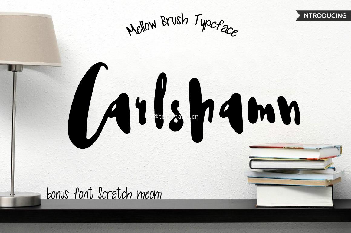 Carlshamn大气书法个性手写英文字体下载