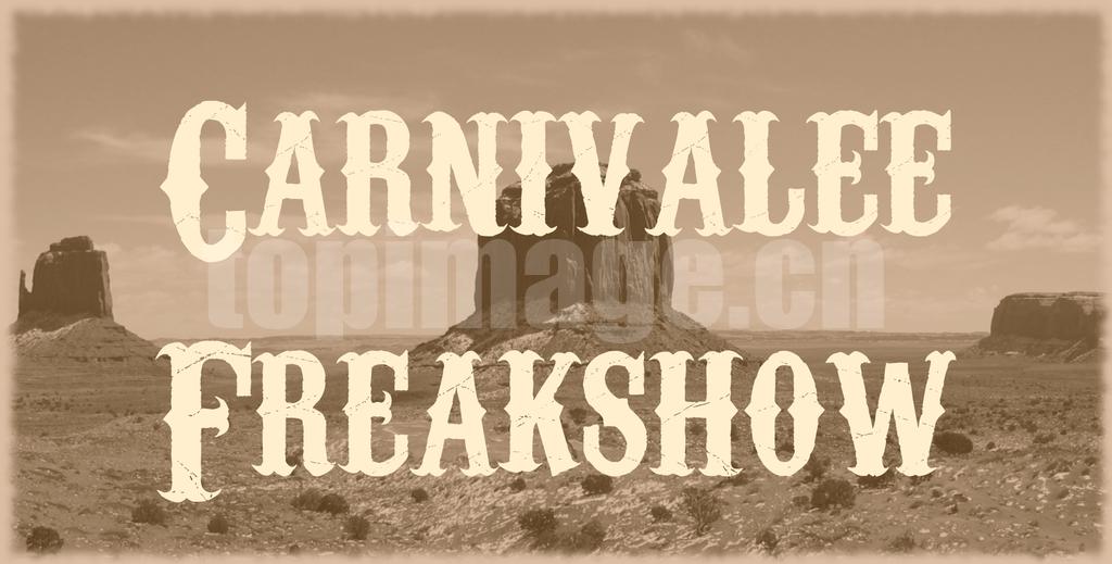 Carnivalee Freakshow复古罗马破感个性艺术英文字体下载