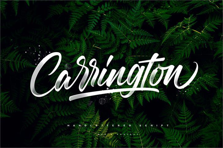 Carrington手写连笔潮牌英文字体下载