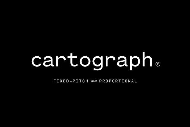 CartographCF现代logo名片排版英文字体下载