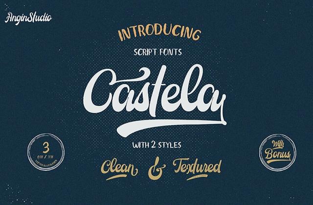 Castela Clean 手写时尚连笔英文字体下载