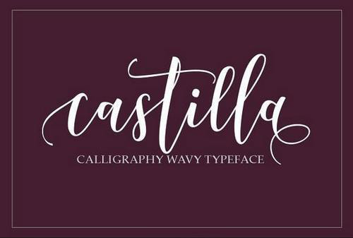 Castilla花体手写婚礼英文字体下载