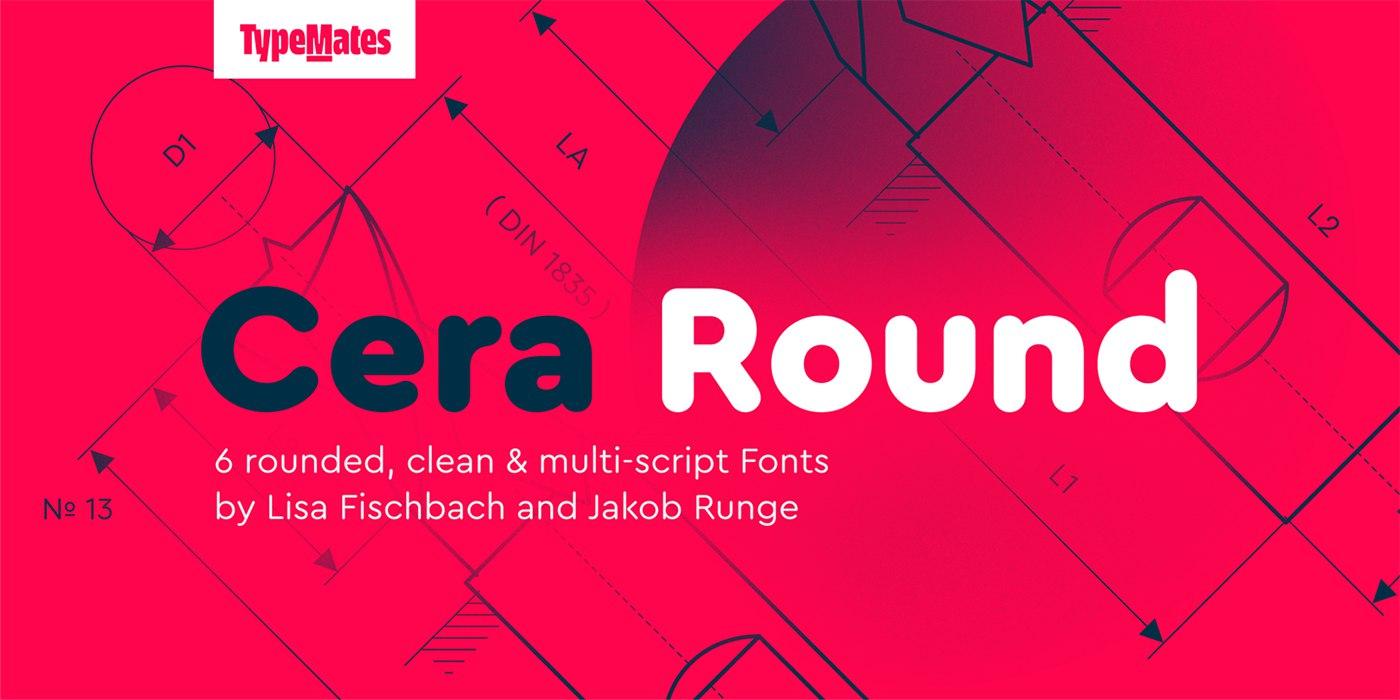 Cera Round现代简洁圆润好看的英文字体下载