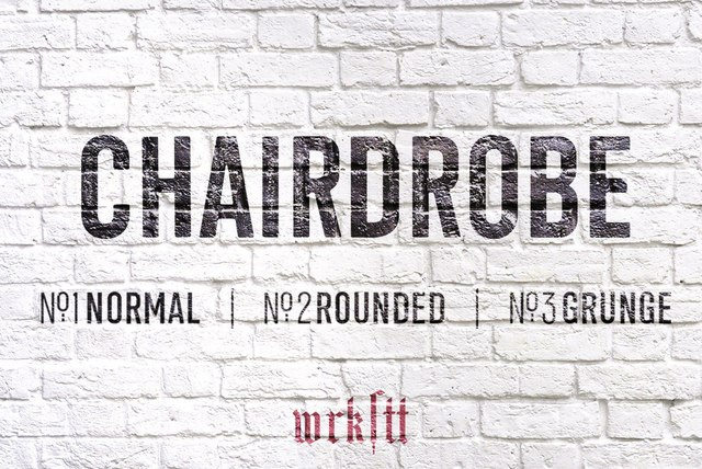 Chairdrobe现代无衬线破损logo英文字体下载