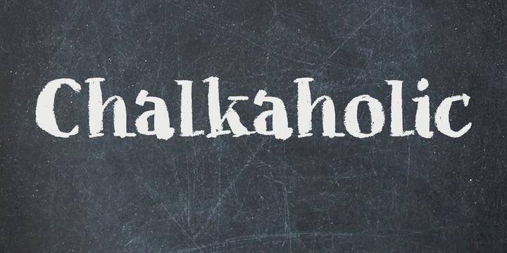 Chalkaholic粉笔笔刷手写英文字体下载