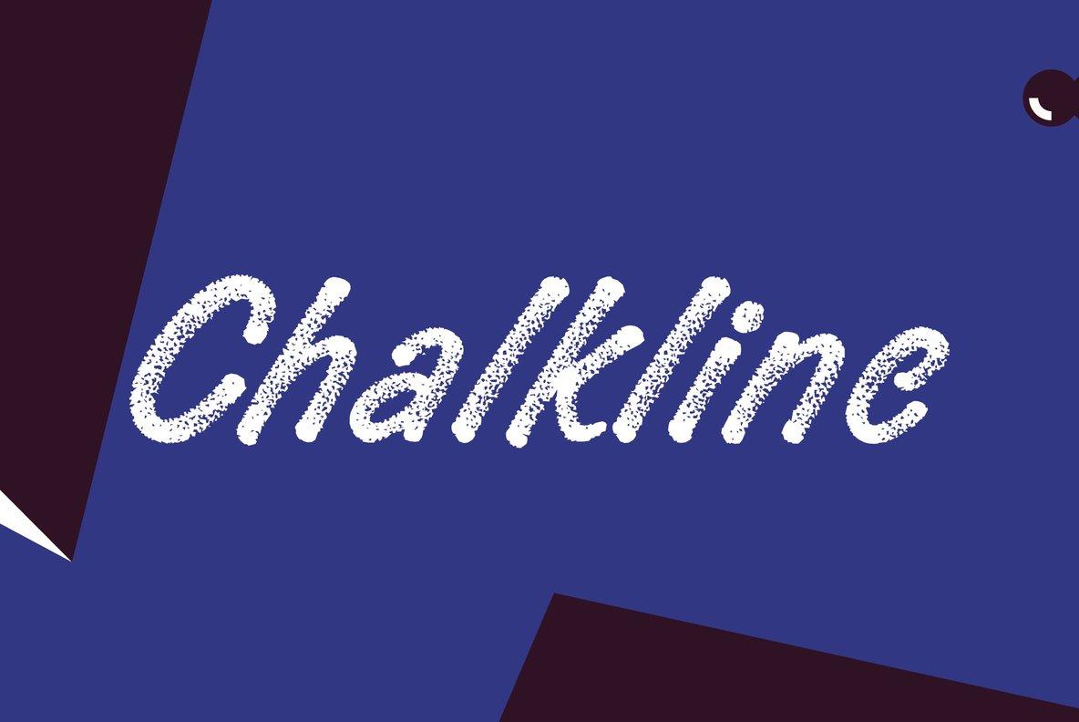 Chalkline无衬线蜡笔手写艺术肌理英文字体下载