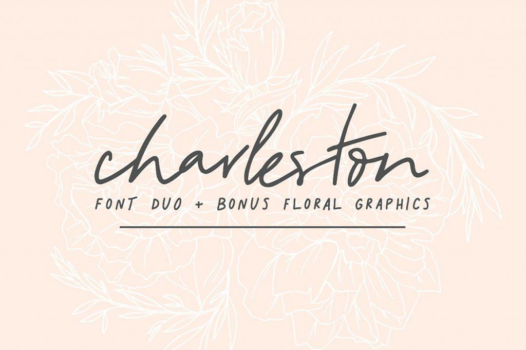 Charleston随意手写连笔英文字体下载
