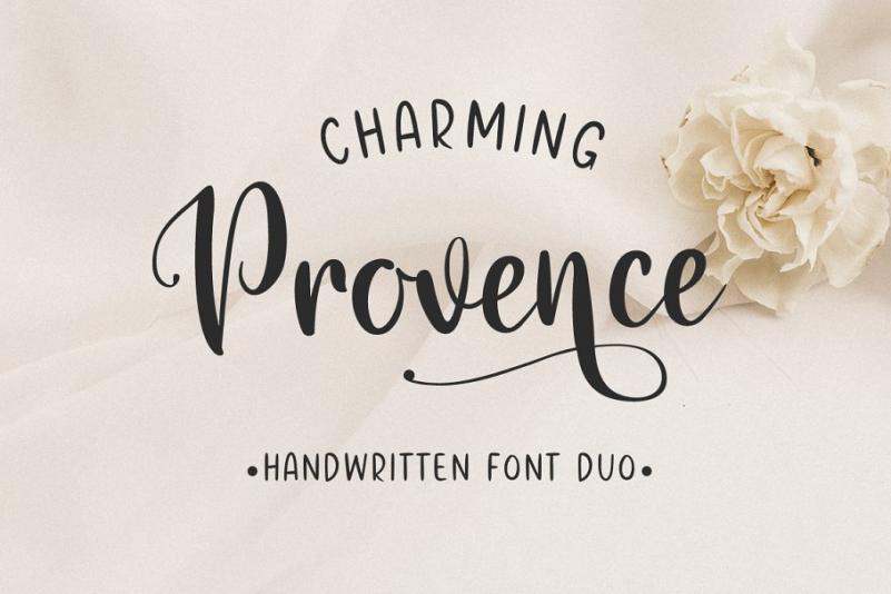 Charming Provence 手写连笔英文字体下载