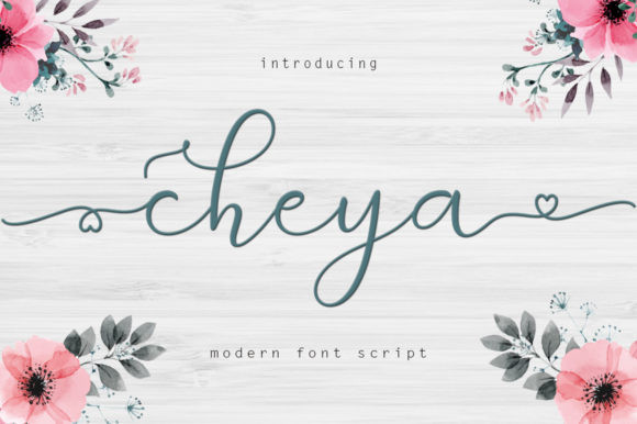Cheya花式手写连笔英文字体下载