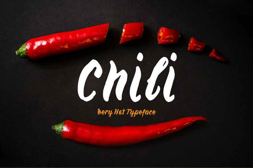 Chili手写菜谱菜单英文字体下载