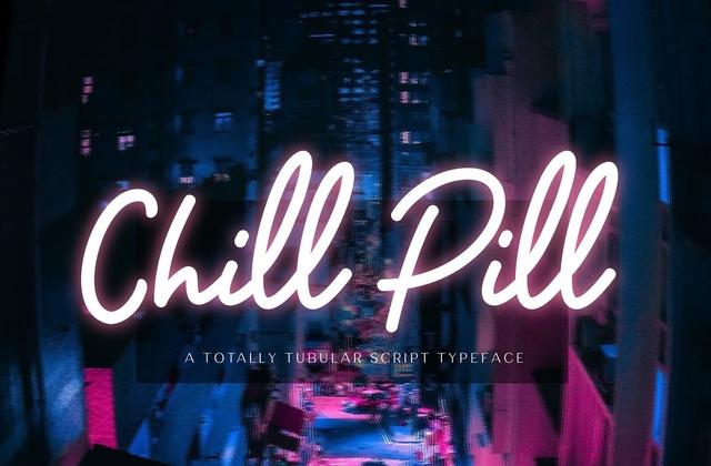 ChillPill手写简洁英文字体下载