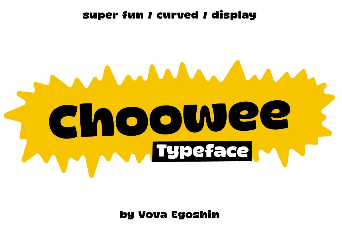 Choowee现代无衬线简洁logo设计英文字体下载